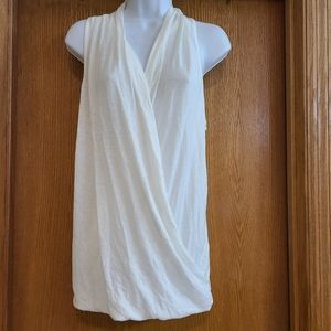 Fabletics White Crossover Sleeveless Top Shirt S